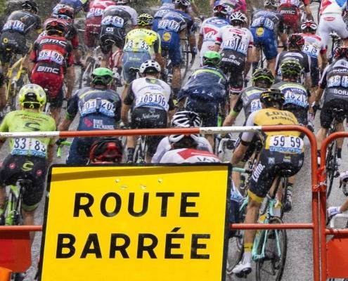 Les rues barrées pour le Tour de France à Valence